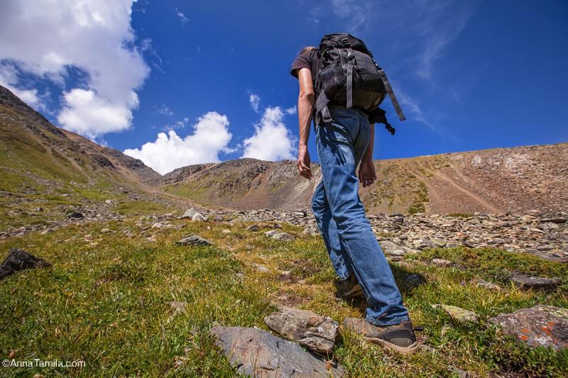 Подъём на перевал Алтай