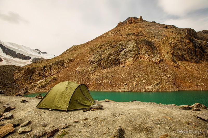 Голубое озеро, ледник Актру