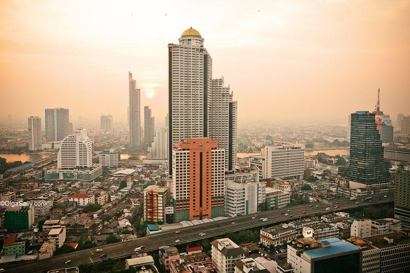 Открытые крыши Бангкока, вид на Лебуа