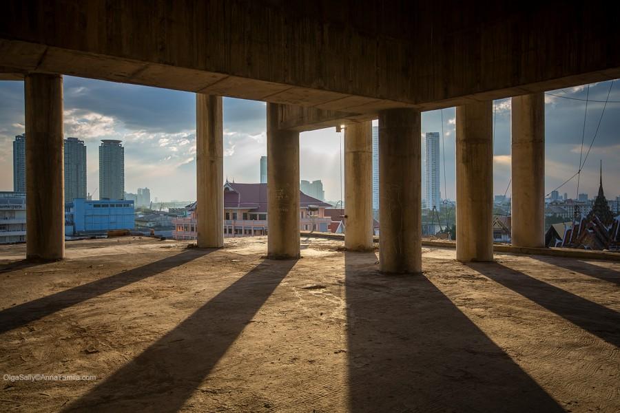 Реальные путешествия по Бангкоку, самый высокий заброшенный небоскреб (31)