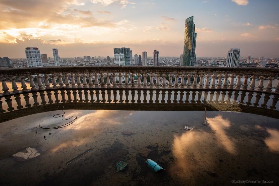 Крутое место в Бангкоке, заброшенный небоскреб