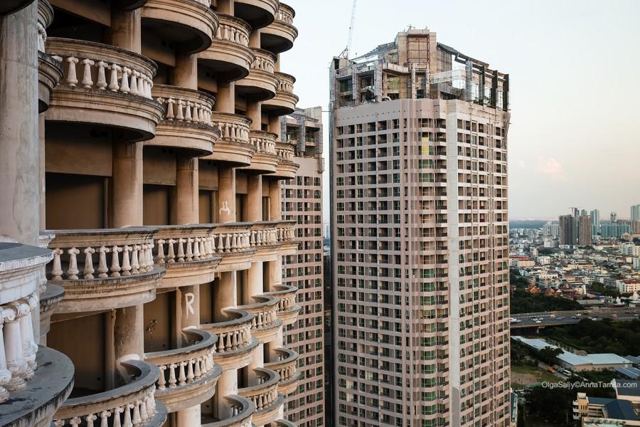 Как подняться на заброшенный небоскреб в Бангкоке