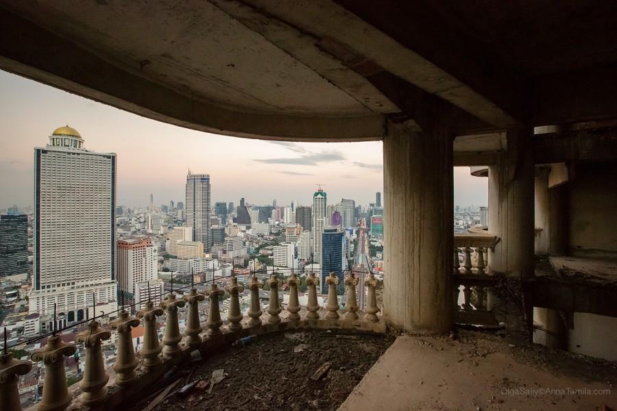 Реальные путешествия по Бангкоку, самый высокий заброшенный небоскреб (11)
