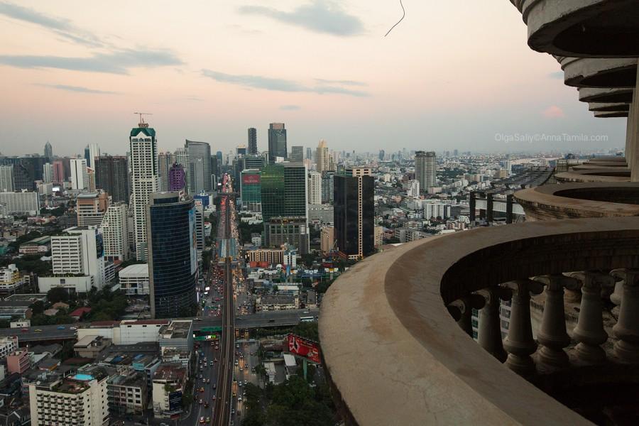 Реальные путешествия по Бангкоку, самый высокий заброшенный небоскреб (10)