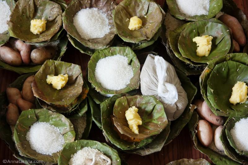 Тарелки из листьев Непал