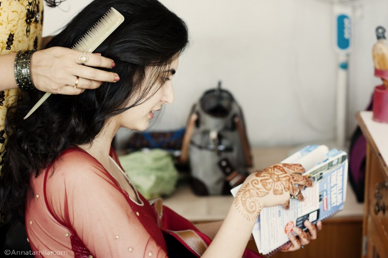 Непал, приготовление невесты
