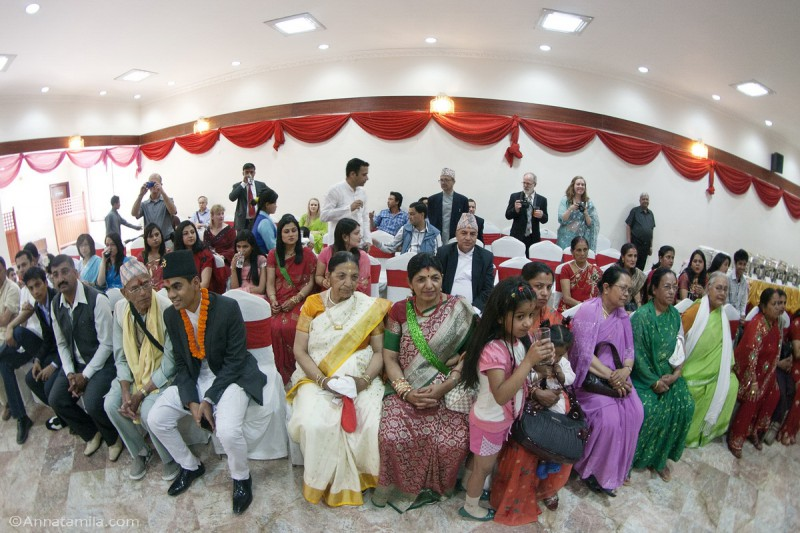 Гости на свадьбе Непал