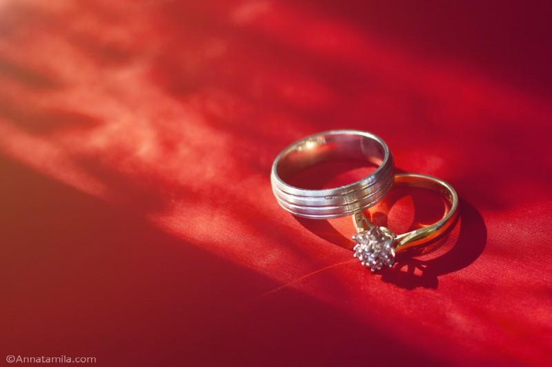 Обручальные кольца на непальской свадьбе