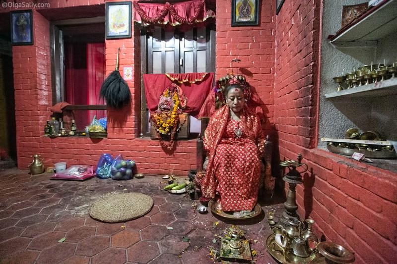 Самая взрослая Кумари, Непал