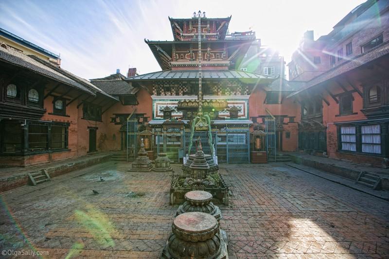 Внутренний дворик дома Кумари
