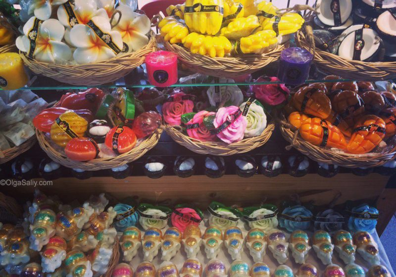 Мыло в виде цветов и фруктов из Таиланда