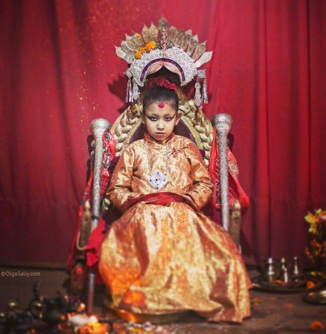 Богиня Кумари в Непале