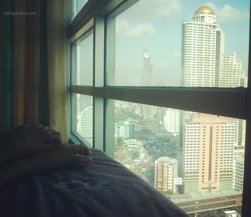 Вид из квартиры в Бангкоке