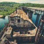 Заброшенная Крапивинская ГЭС