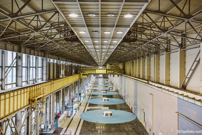 Внутри Богучанской ГЭС