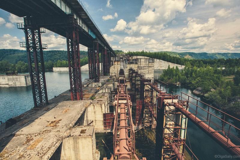 Крапивинская ГЭС - заброшка, долгострой