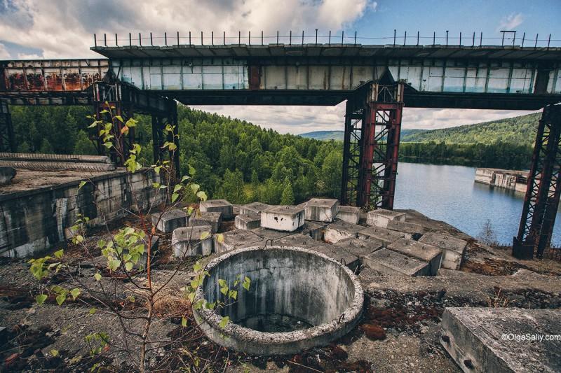 Заброшенная Крапивинская ГЭС, Кемеровская область, Томь (8)