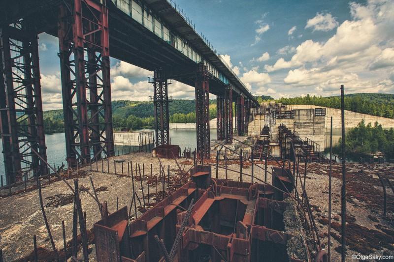 Заброшенная Крапивинская ГЭС, Кемеровская область, Томь (6)