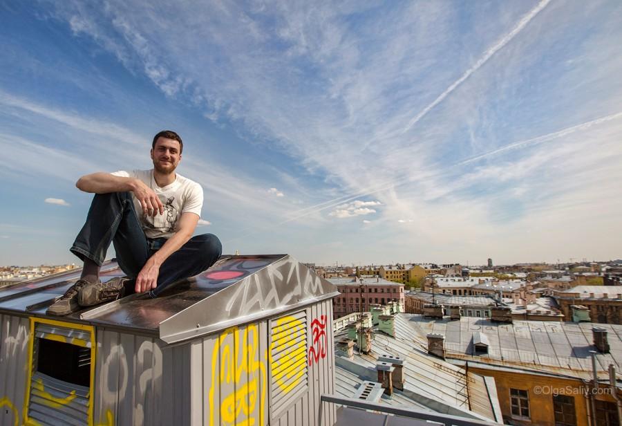 Юрий Сенатский, экскурсии по крышам Питер