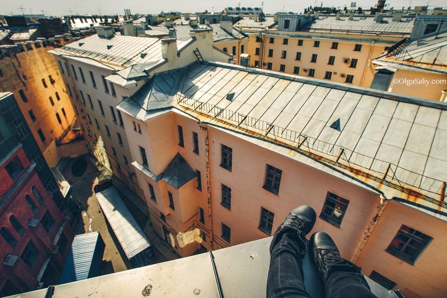 На крыше в Питере