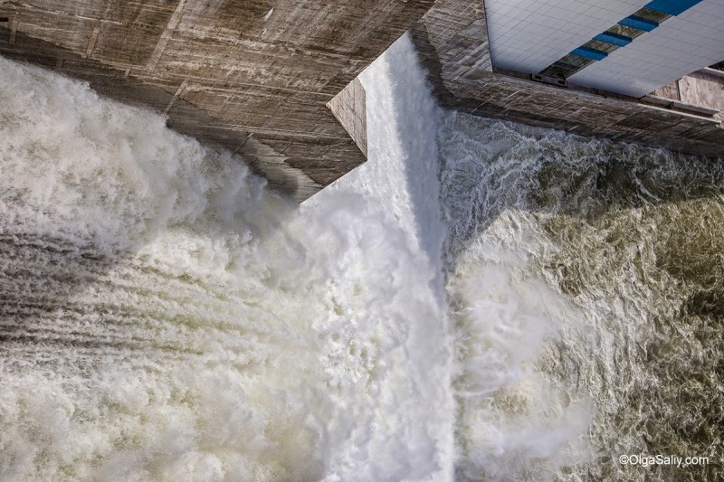 Испытание водозброса Богучанская ГЭС
