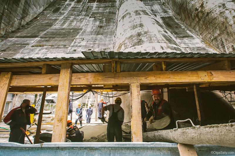 Саяно-Шушенская ГЭС: рабочие