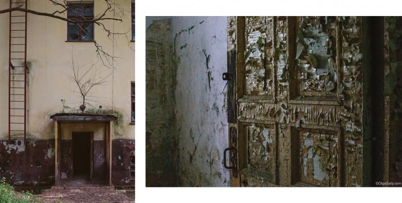 Старая дверь и вход