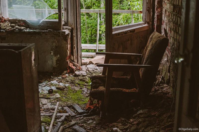 КОмната в заброшке Новосибирска