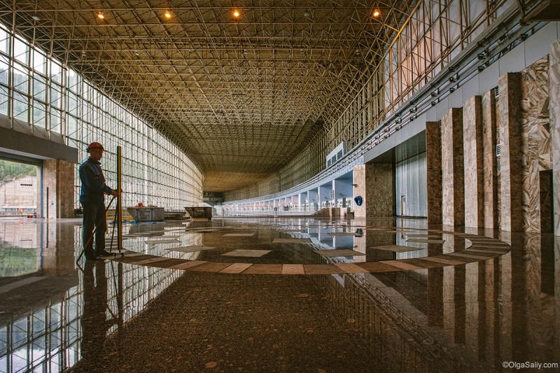 Саяно-Шушенская ГЭС внутри