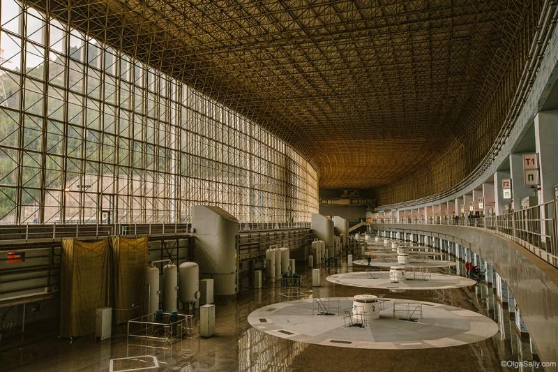 Саяно-Шушенская ГЭС внутри после аварии