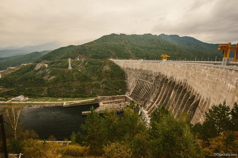Саяно-Шушенская ГЭС вид сверху
