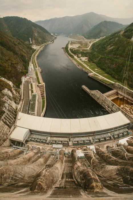 Саяно-Шушенская ГЭС панорамный вид