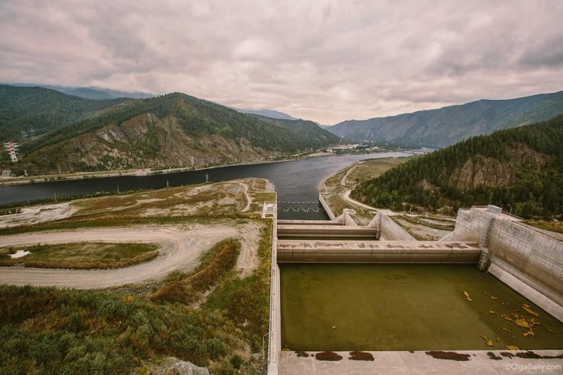 Водозброс на Саяно-Шушенской ГЭС