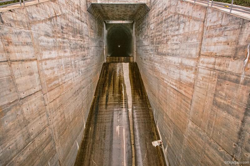 Саяно-Шушенская водозброс, туннель