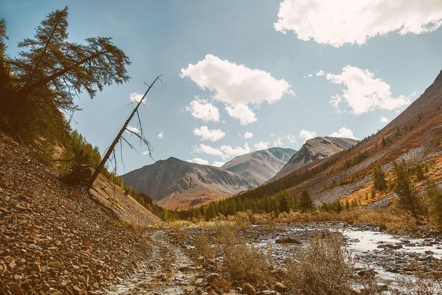 Горная дорога на Алтае, Карагемский перевал