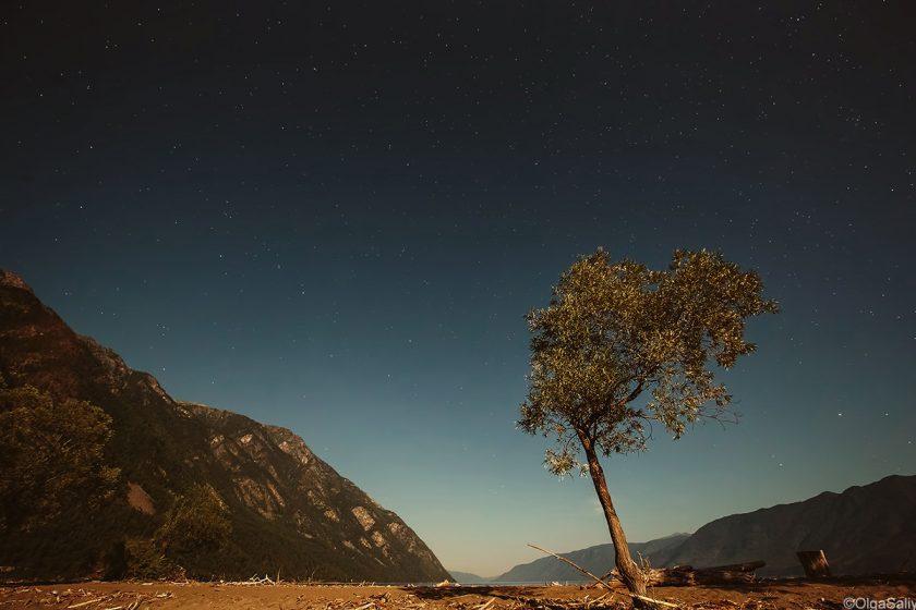 Ночной пейзаж в горах