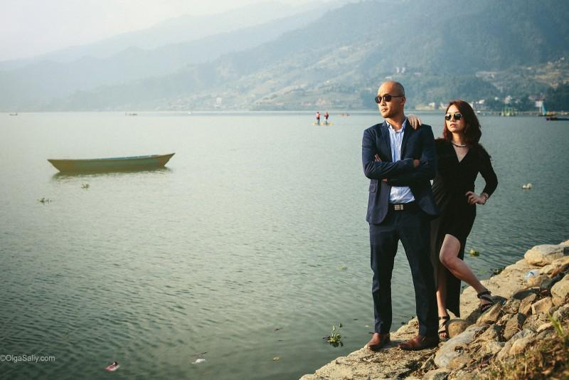 Фотосессия возле озера Фева, Покхара