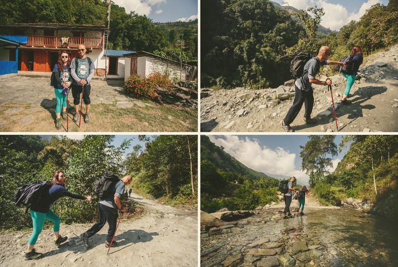 Свадебный трек к Пун Хиллу в Гималаях, первый день пути