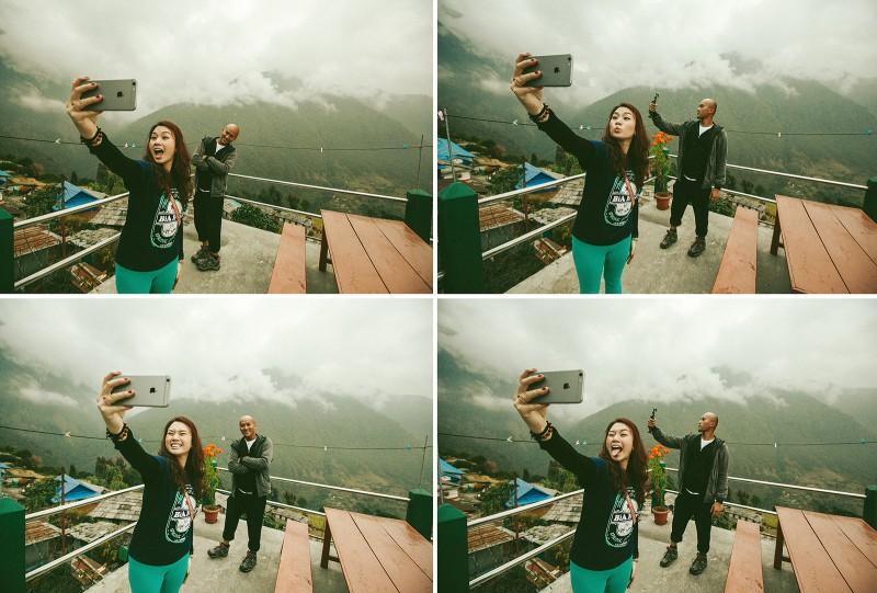 Селфики в Гималаях