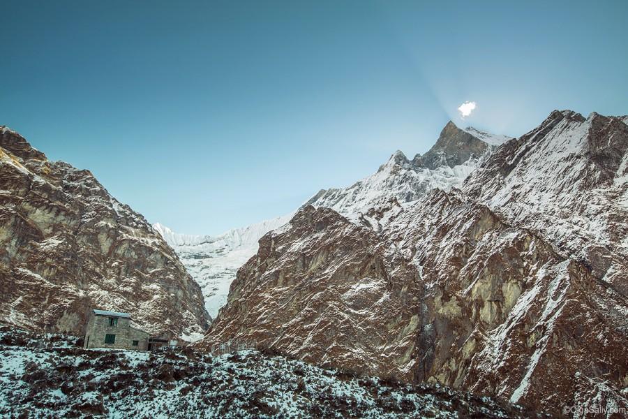 Базовый лагерь Мачепучаре, Гималаи
