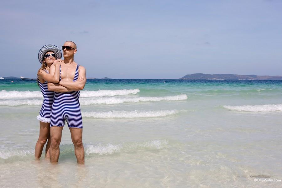 Пляж с белым песком возле Паттайи