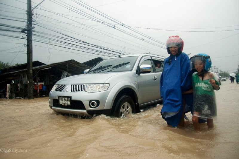 Наводнение на острове Самуи Таиланд