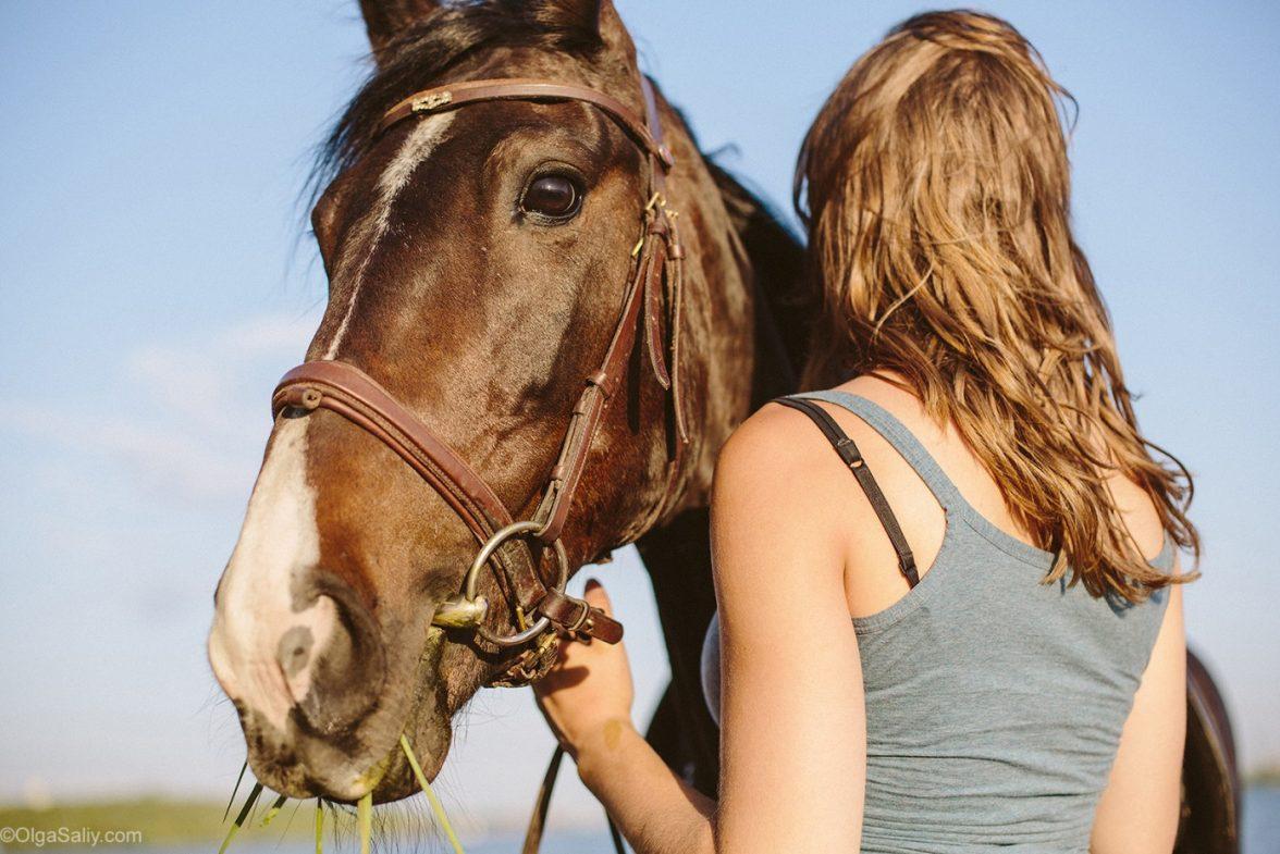 Девушка и лошадь, Заельцовский бор, прокат