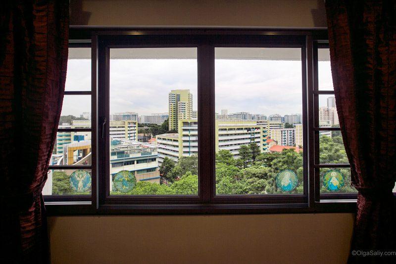 Сингапур, вид из окна