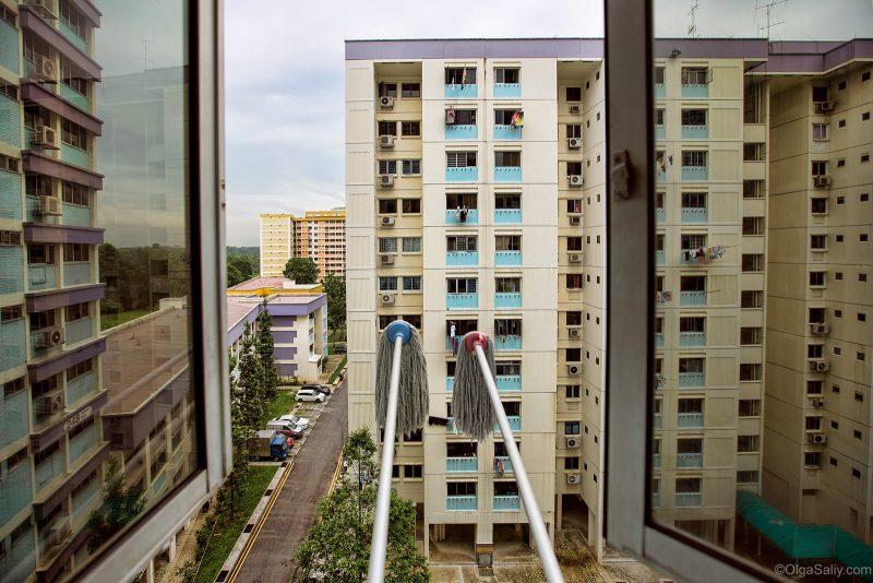 Вид из окна, реальный Сингапур