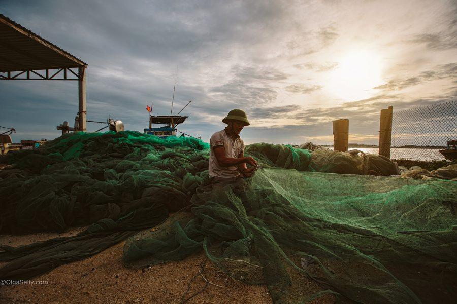 Рыбаки на берегу, Вунгтау