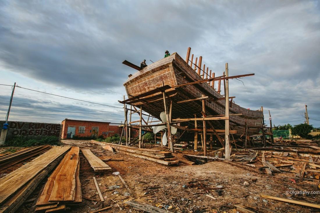 Вунгтау, деревянный каркас судна