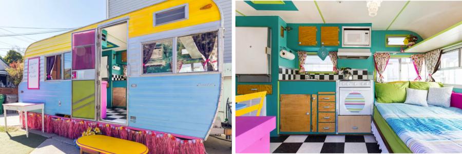 Винтажный контейнер - дом на колесах, аренда в Калифорнии