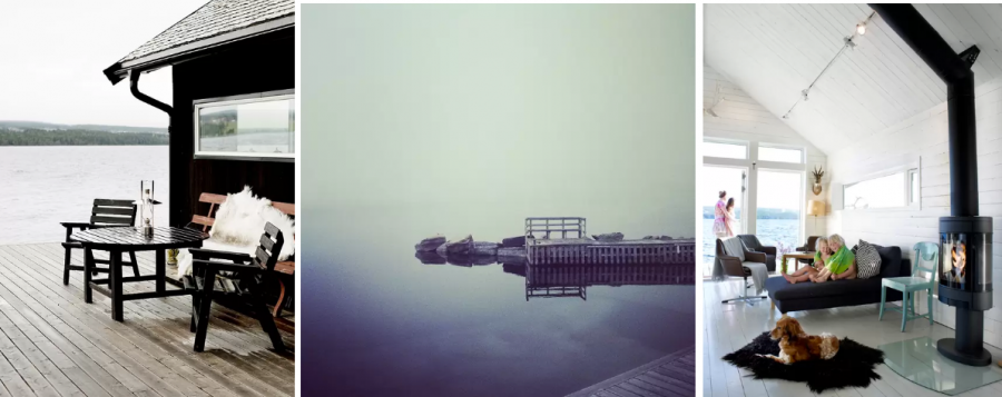 Арендовать домик на берегу озера в Швеции