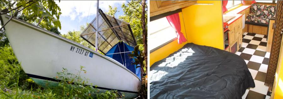 Арендовать комнату в старой лодке Нью-Йорк